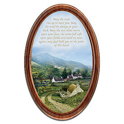 Edmund Sullivan Irish Blessings Framed Collector Plate