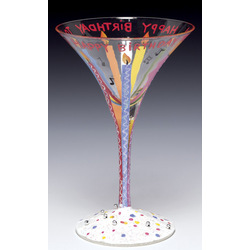 Birthday Martini Glass