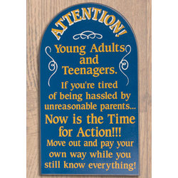 Attention Young Adults Sign