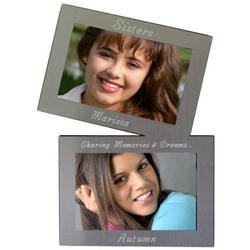Twin Engraved Photo Frame