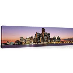 Detroit Night Skyline Canvas