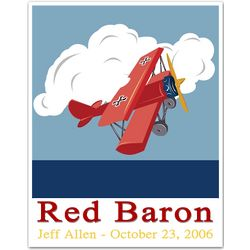 Personalized Red Baron Print