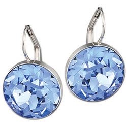 Swarovski Bella Round Sapphire Earrings
