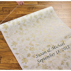 Personalized Fall Leaves Wedding Aisle Runner