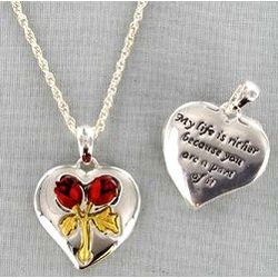 Life is Richer Heart Necklace