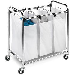 Triple Laundry Sorter in Chrome