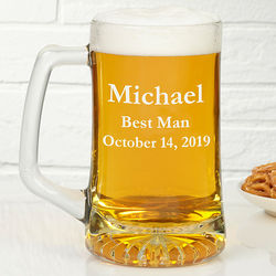 Groomsmen Over-sized Personalized Beer Mug