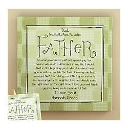 Personalized Men Ways To Say It Father Canvas