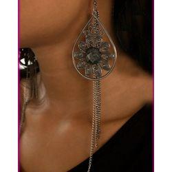 Large Metallic Boho Teardrop Earrings
