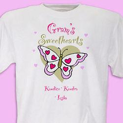 Women's Personalized Butterfly Sweethearts T-Shirt