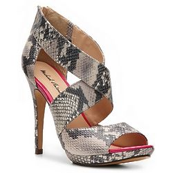 Reptile Embossed High Heel Sandal