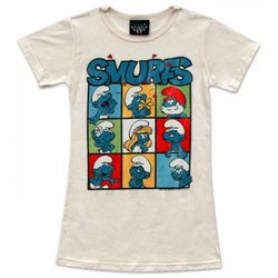 The Smurfs Boxes Women's Junior T-Shirt