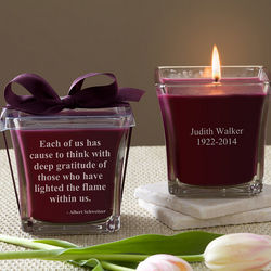 Personalized In Memory Mulberry Candle