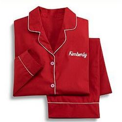 Personalized Red Pajamas