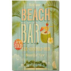 Handcrafted Beach Bar Wall Sign