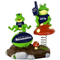 Seattle Seahawks Springy Frog Garden Figurine
