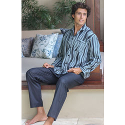 Men's Ocean Fog Cotton Pajamas