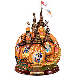 Disney's Enchanted Pumpkin Castle Illuminated Halloween Figurine