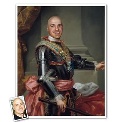 Classic Painting King of Spain Personalized Print