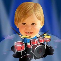 Your Photo in a Drummer Caricature