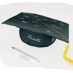 Autograph Graduation Cap with Gel Pen