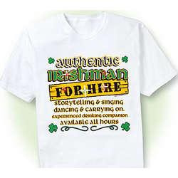 Authentic Irishman Flashing T-Shirt
