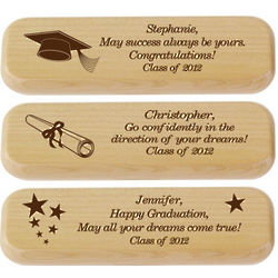 Engraved Graduation Pen and Pencil Box
