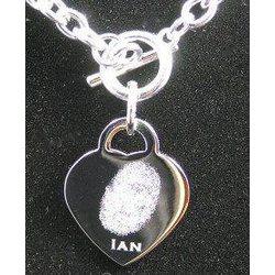 Custom Engraved Heartprint Charm