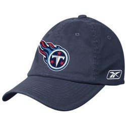 Tennessee Titans Navy Blue Basic Logo Flex Slouch Hat
