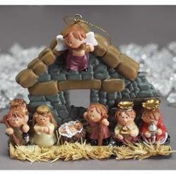 Children's Nativity Ornament