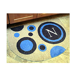 Circles Half Round Personalized Doormat