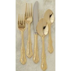 Gold Royal Crest Flatware Set
