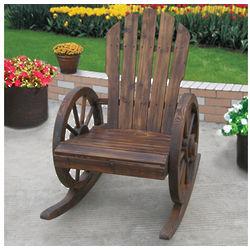 Wagon Wheel Rocker Chair