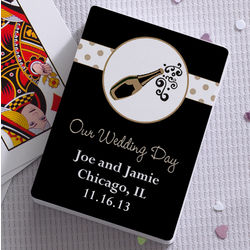Champagne Toast Personalized Wedding Favor Playing Card Decks