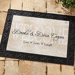 Personalized Live Love and Laugh Doormat