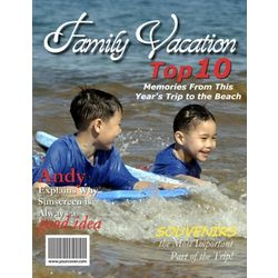 Family Vacation Personalized Magazine Cover
