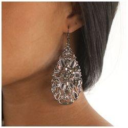 Jewel Embellished Tear Drop Earrings
