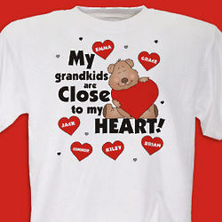Personalized Close To My Heart T-Shirt