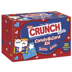 Nestle Crunch Valentine's Candy and Card Kit