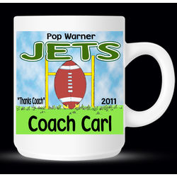 Personalized Football Coach and Player Mug
