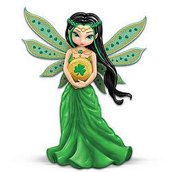 Lucky Irish Charm Fairy Prosperity Figurine