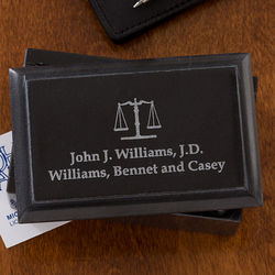 Law Office Personalized Marble Business Card Holder