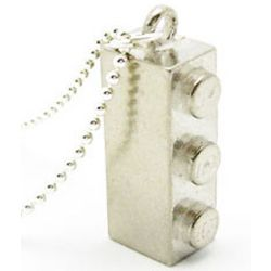 Sterling Silver Building Block Necklace