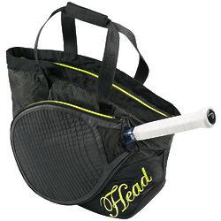 Women's Black Club Tennis Bag
