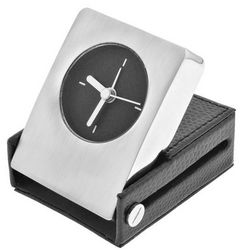 Bradford Leather Travel Alarm Clock