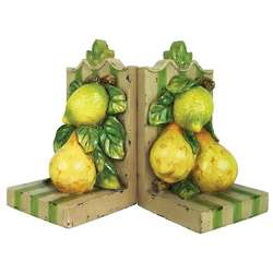 Decorative Fruit Bookend Set