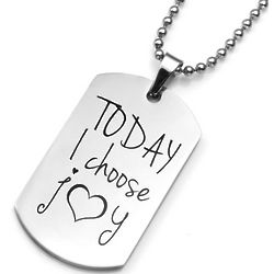 Personalized Today I Choose Joy Pendant