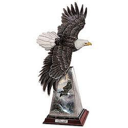 Inspirational Soaring Spirit Bald Eagle Sculpture