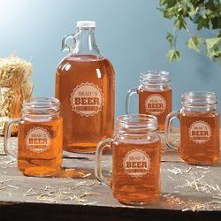 Redneck Personalized Growler and Mason Jar Mugs