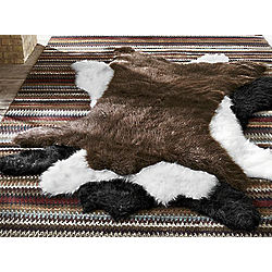 Faux Bearskin Rug